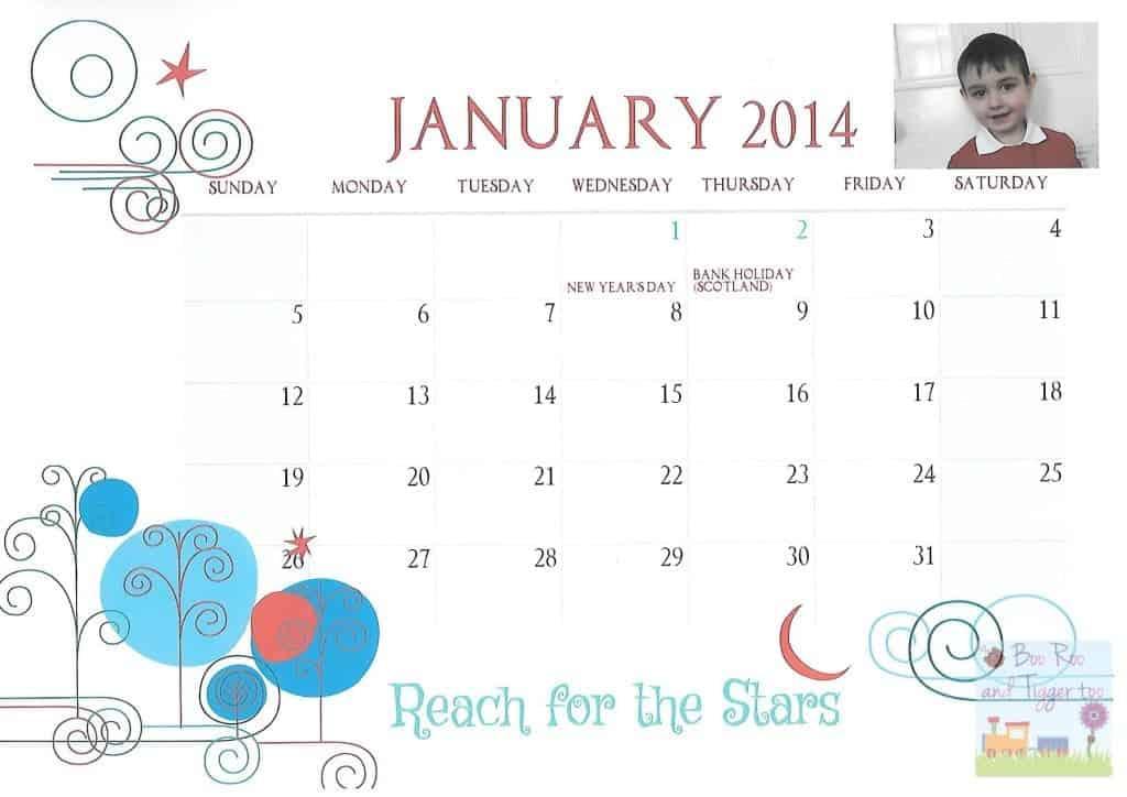 Tigger Calendar - Jan 2014