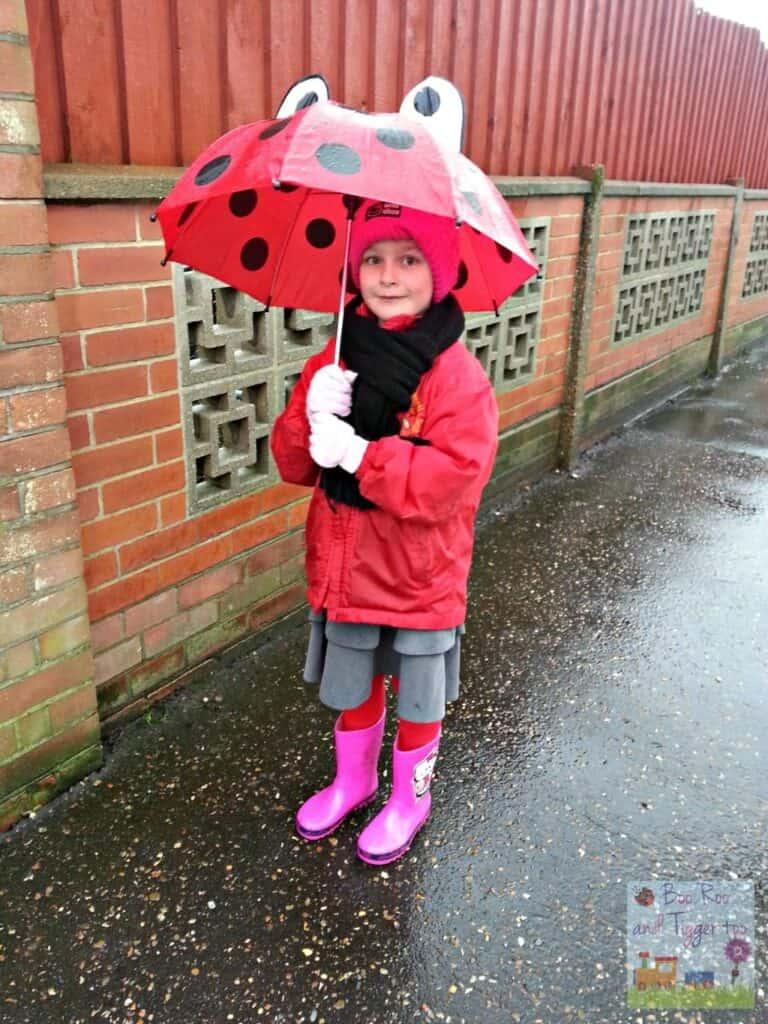 Silent Sunday - School run rain